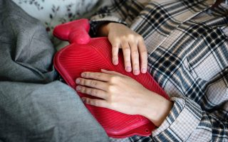 having menstrual pain and using calcium to help it go away