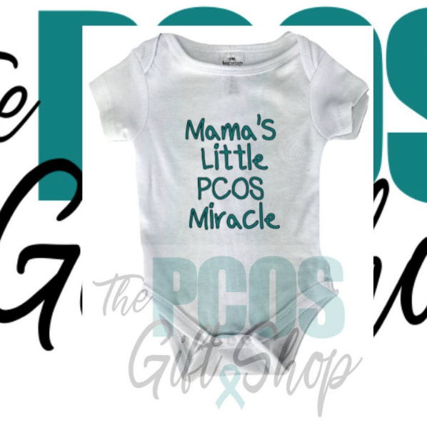 PCOS baby bodysuit on Etsy