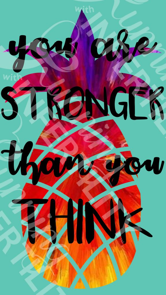 You are Stronger than you think watermark