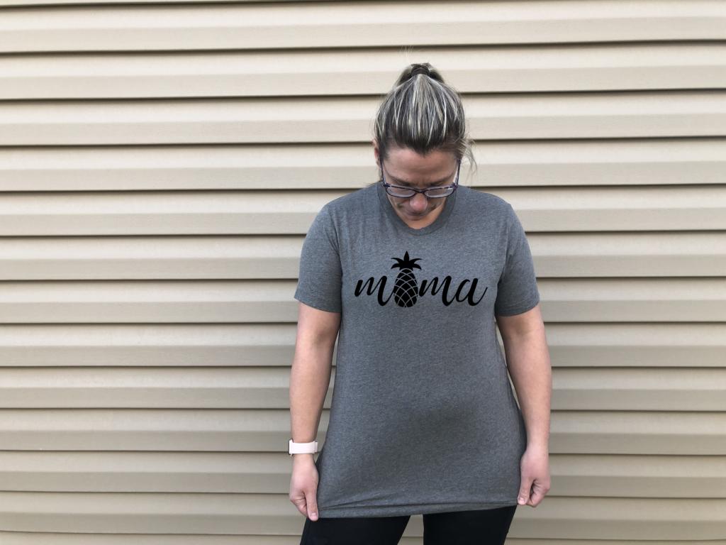 pineapple mama shirt runwithinfertility.etsy.com