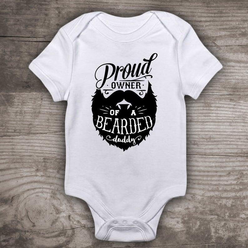 Etsy Bearded Daddy Baby Bodysuit