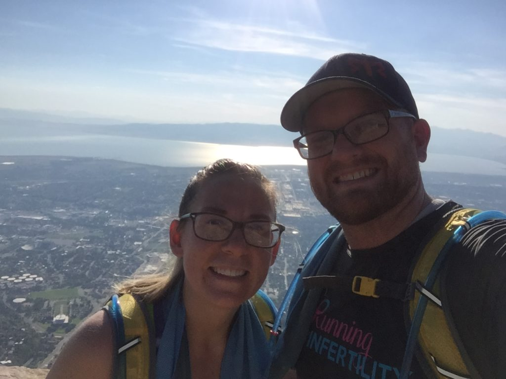 hiking squaw peak after our failed IVF cycle