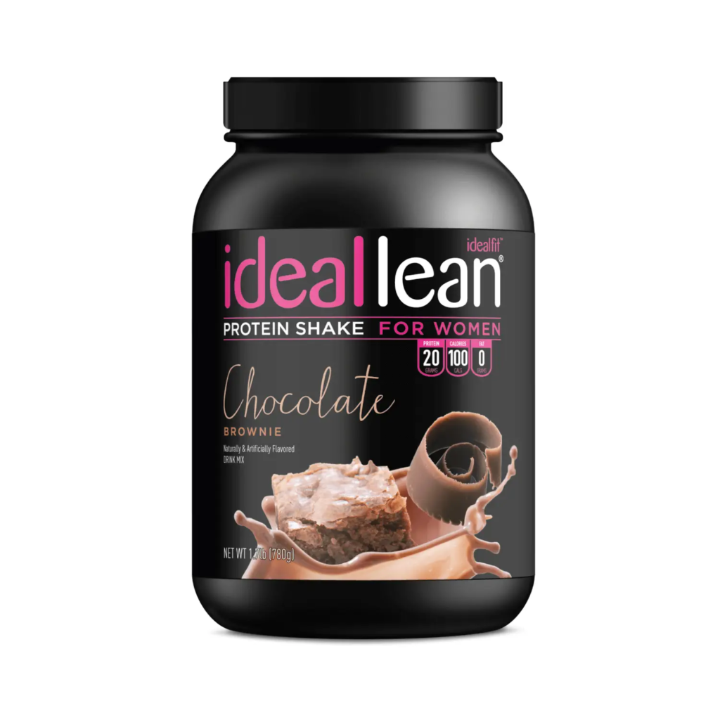 ideal fit chocolate brownie protein shake